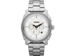 Fossil Machine Chronograph White Dial Stainless Steel Mens Watch FS4663