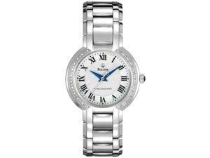 Bulova Fairlawn Diamond Accented Stainless Steel Womens Watch 96R167