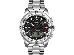 Tissot T-Touch II Carbon Fiber Dial Titanium Mens Watch T0474204420700