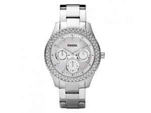 Fossil Stella Mother of Pearl Dial Chronograph Silver-tone Ladies Watch ES2860