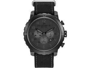 Citizen Eco-Drive Chrono Nylon Black Dial Men's Watch CA4098-06E