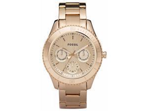 Fossil Stella Chronograph Multifunction Rose Gold-tone Ladies Watch ES2859