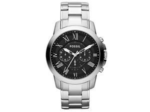 Fossil Grant Chronograph Black Dial Mens Watch FS4736