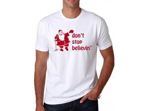 Santa Don't Stop Believing T-Shirt Vintage Shirt for the Holidays M