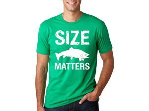 Size Matters Fish T Shirt funny fishing shirt fish tee L