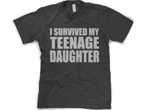 I Survived My Teenage Daughter T Shirt Funny Teenager Tee M
