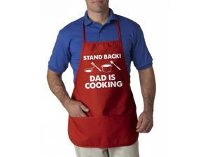 Stand Back Dad Is Cooking Apron Funny Summer Cookout Aprons One Size Fits Most