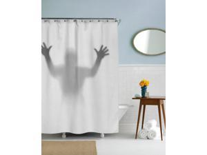 Shadowy Figure Shower Curtain Funny Creepy Shower Curtains Standard