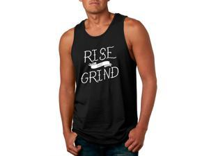 Rise And Grind Funny Workout Men's Fitness Tank Top -S