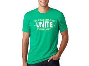 Procrastinators Unite Eventually T Shirt Funny Procrastinating Tee M