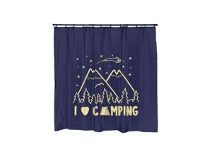 I Love Camping Campfire Graphic Shower Curtain-standard