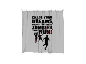 Chase Your Dreams Unless There Are Zombies Shower Curtain-standard