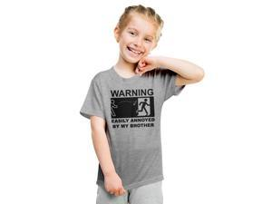 Youth Easily Annoyed By My Brother Funny Sibling T Shirt -S