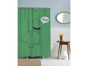 I Love You This Much T Rex Dinosaur Shower Curtain-standard