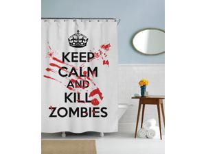 Keep Calm and Kill Zombies Graphic Shower Curtain-standard