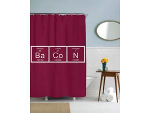 Bacon Chemistry Scientific Shower Curtain-standard