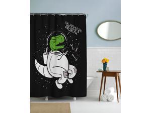 Houston We Have a Problem T Rex Shower Curtain-standard