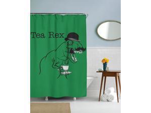 Tea Rex Funny T Rex Dinosaur Shower Curtain-standard