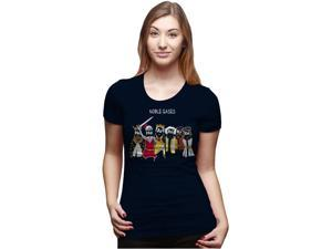 Womens Noble Gases T Shirt Womens Funny Science Shirt Chemistry Tee L