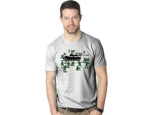 Little Green Army Men T Shirt Funny Graphic Shirts L