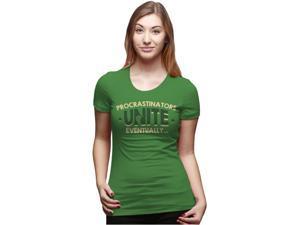 Women's Procrastinators Unite Eventually T Shirt Funny Procrastinating Tee L