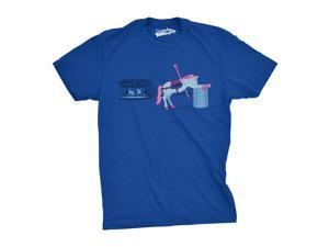 Sick of My Job T-Shirt Showing a Carousel Horse Throwing Up XL