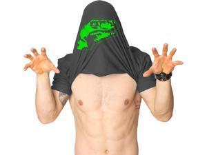 Ask Me About My Raptor Flipover T-Shirt - Funny Dinosaur Flip Up T-Shirt M