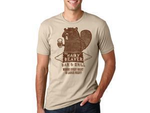 The Hairy Beaver Bar T Shirt Funny Drinking Shirt Beavers Tee XL