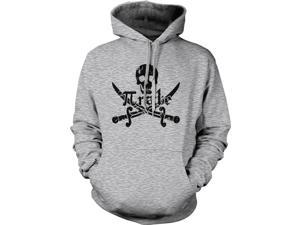 Pirate Skull and Crossbones Math Pi-Rate Hoodie Funny Sweatshirt  L