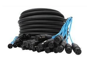 Elite Core PEX16100 16 Channel 100' Fan To Fan XLR Extension Snake Cable