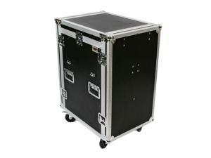 OSP MC12U-16SL 16 Space ATA Mixer/Amp Rack Case 12 Space Depth and Standing Lid