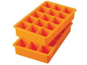 Tovolo Perfect Cube Ice Tray Orange