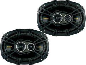 Kicker 40CS6934 CS-Series Coaxial Speakers - Pair (Black)