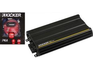 Kicker 12CX600.5+PK4 5-channel Amplifier w/ Amp Kit