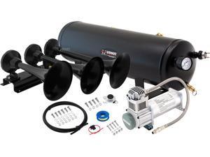 Vixen Horns VXO8330/3418B Full Train Air Horn System Kit