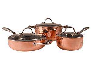 Fancy Cook 6 Piece Set 5-ply Copper Cookware