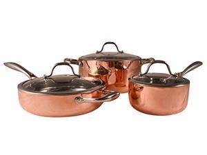 Fancy Cook 6 Piece Set 5-ply Copper Cookware