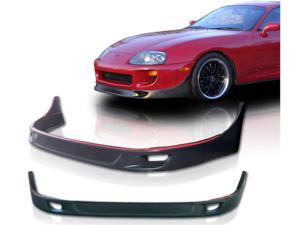 93-98 Toyota Supra Jdm Tr-D Style Front Bumper Lip Spoiler Polyurethane Black