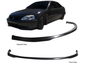 99-00 Honda Civic Ek Sir Si R Polyurethane Front Bumper Lip Spoiler