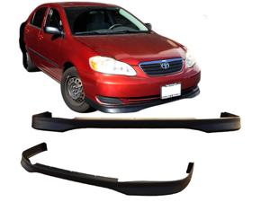 03-04 Toyota Corolla T-R Style Urethane Front Bumper Lip Spoiler