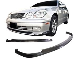 98-05 Lexus Gs300 Aristo Vip Carbon Fiber Front Bumper Lip Spoiler