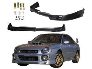 02-03 Subaru Impreza Wrx V2 Style Urethane Front Bumper Lip Spoiler Black