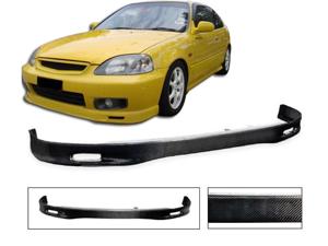 96-98 Honda Civic Ek Ek9 Spoon Real Carbon Fiber Front Bumper Lip Spoiler Cf