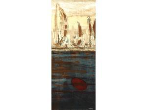 Calm Waters II Poster Print by Kingsley (8 x 20)