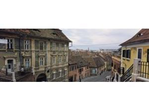 Buildings in a city, Town Center, Big Square, Sibiu, Transylvania, Romania Poster Print by Panoramic Images (27 x 9)