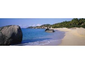 Boulders On The Beach, The Baths, Virgin Gorda, British Virgin Islands Poster Print by Panoramic Images (27 x 9)