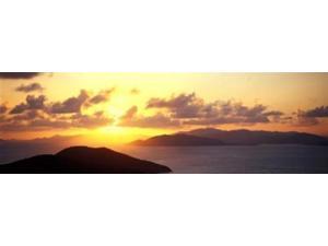 Sunset Virgin Gorda British Virgin Islands Poster Print by Panoramic Images (36 x 12)