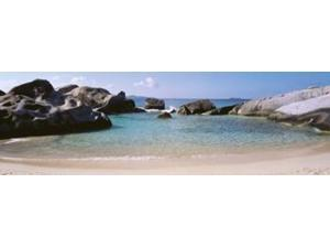 British Virgin Islands, Virgin Gorda, The Baths, Rock formation in the sea Poster Print by Panoramic Images (36 x 12)