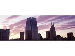 Pinnacle at Symphony Place and BellSouth Building at sunset, Nashville, Tennessee, USA 2013 Print by Panoramic Images