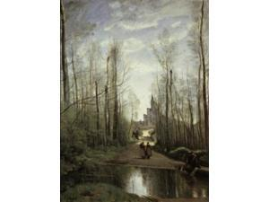 The Church of Marissel near Beauvais, 1866, Jean Baptiste Camille Corot (1796-1875/French), Oil on canvas, Musee du
